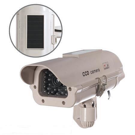 SOL 1500 Atrapa kamery zewnętrznej z uchwytem solarna