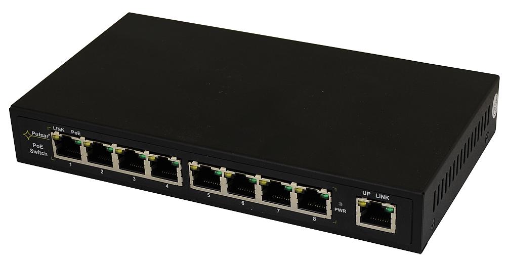PULSAR S108 switch 8xPoE + 2xLan